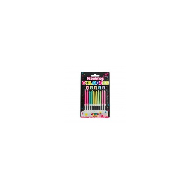 PACK BOUGIES FLAMME COLOR